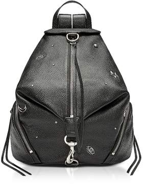 Rebecca Minkoff Black Grainy Leather Julian Backpack w/Charms - ONE COLOR - STYLE
