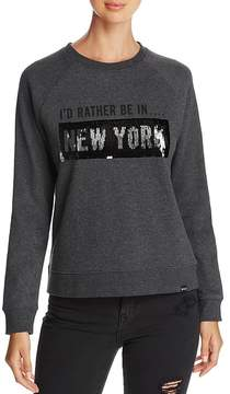 Andrew Marc Performance Sequin Graphic Sweatshirt
