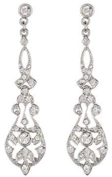 Ben-Amun Deco Ornate Crystal Drop Earrings