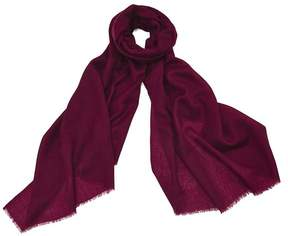 Aspinal of London Lightweight Cashmere Scarf In Bordeaux