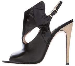 Camilla Skovgaard Leather Peep-Toe Sandals