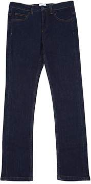 Fendi Embroidered Monster Stretch Denim Jeans
