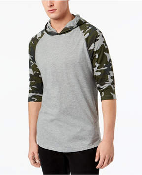 American Rag Men's Camo Raglan Hooded T-Shirt, Created for Macy's