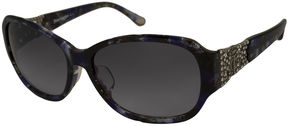 Juicy Couture Sunglasses - Ju542 F / Frame: Blue Tortoise Lens: Gray Gradient