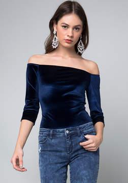 Bebe Velvet Bodysuit