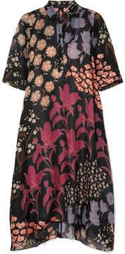 DAY Birger et Mikkelsen Biyan - Allie Floral-print Silk-organza Midi Dress - Black