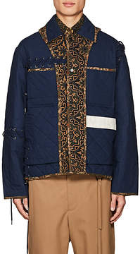 Craig Green Men's Grommet-Laced Quilted Cotton Jacket