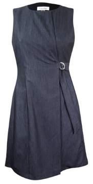 Calvin Klein Women's Faux-Denim Wrap Dress