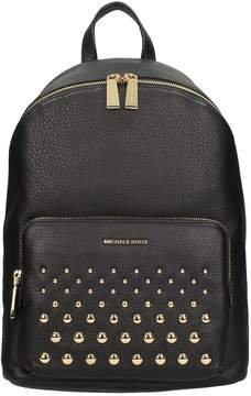 Michael Kors Black Hammered Leather Backpack - BLACK - STYLE