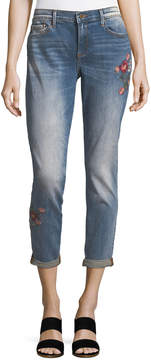 Driftwood Embroidered Boyfriend Jeans