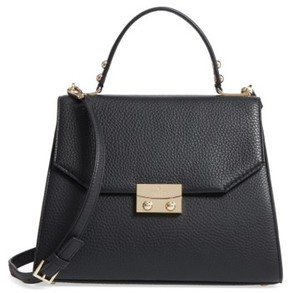 Kate Spade New York Stewart Street Samira Leather Top Handle Satchel - Black