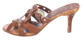 Christian Dior Leather Embellished Sandals