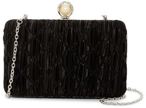 Jessica McClintock Noelle Pleated Satin Clutch