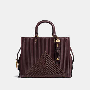 COACH Coach Rogue With Quilting And Rivets - BRASS/OXBLOOD - STYLE