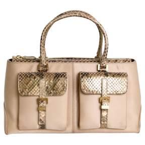 Tod's Gold Leather Handbag