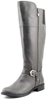 G by Guess Hailee Wide Calf Women Round Toe Synthetic Gray Knee High Boot.