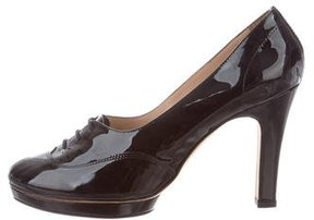 Repetto Round-Toe Lace-Up Pumps