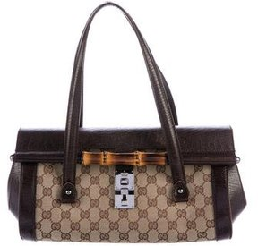 Gucci GG Canvas Bamboo Bullet Bag - BROWN - STYLE
