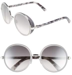 Jimmy Choo Women's 'Andies' 54Mm Round Sunglasses - Palladium