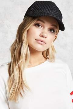 Forever 21 Netted Overlay Snapback Hat
