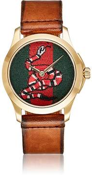 Gucci Men's Le Marché Des Merveilles Leather Watch
