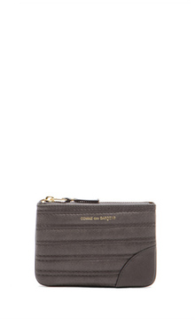 Comme des Garcons Embossed Stitch Small Pouch in Gray.