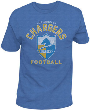 Authentic Nfl Apparel Men's Los Angeles Chargers Midfield Retro T-Shirt