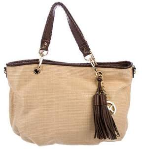 MICHAEL Michael Kors Leather-Trimmed Straw Hobo