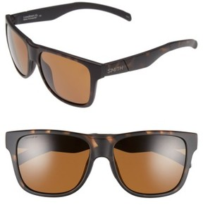 Smith Women's 'Lowdown Xl' 58Mm Polarized Sunglasses - Matte Tortoise/ Polar Brown