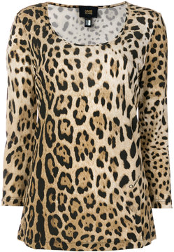Class Roberto Cavalli scoop neck leopard T-shirt