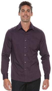 Apt. 9 Men's Slim-Fit Herringbone Stretch Button-Down Shirt