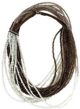 Brunello Cucinelli Ombré Acute Beaded Necklace w/ Tags