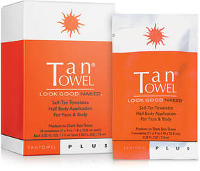 TanTowel Plus Self-Tan Towelette Half Body Application For Face & Body