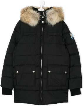 DSQUARED2 hooded padded coat