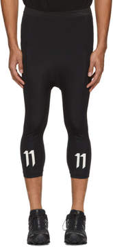11 By Boris Bidjan Saberi Black Logo Track Pants
