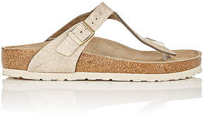 Birkenstock Women's Gizeh Distressed Leather Thong Sandals