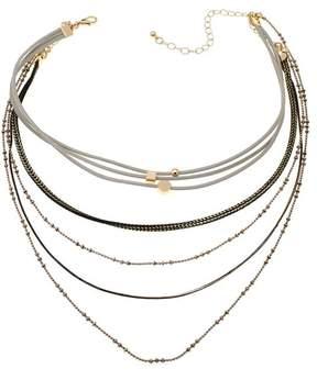 Danielle Nicole Many Suitors Multi-Strand 12-1/2 Bib Necklace