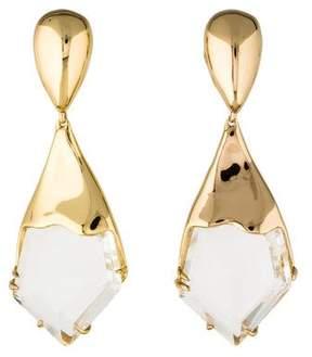Alexis Bittar Liquid Crystal Jagged Broken Glass Clip-On Earrings