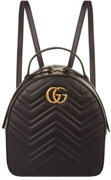 Gucci Marmont Chevron Backpack - BLACK - STYLE