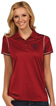 Antigua Women's Cleveland Indians Icon Desert-Dry Tonal-Striped Performance Polo