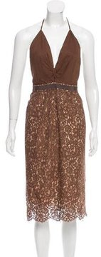 Camilla And Marc Lace Halter Dress