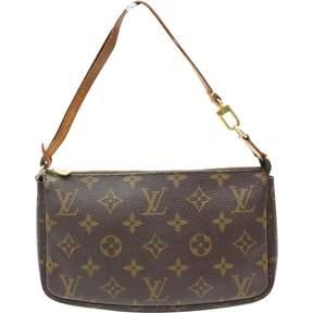 Louis Vuitton Pochette Accessoire leather handbag - BROWN - STYLE
