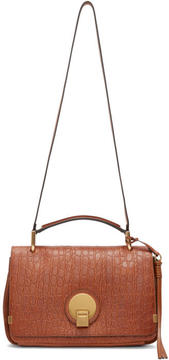 Chloé Brown Croc-Embossed Medium Indy Bag