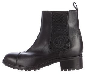 Chanel Leather Chelsea Boots