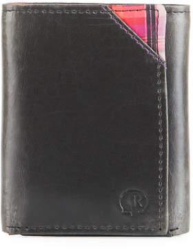 Robert Graham Men's Derby Tri-Fold Leather Plaid Wallet