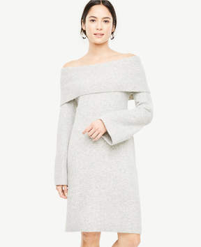 Ann Taylor Off The Shoulder Bell Sleeve Sweater Dress