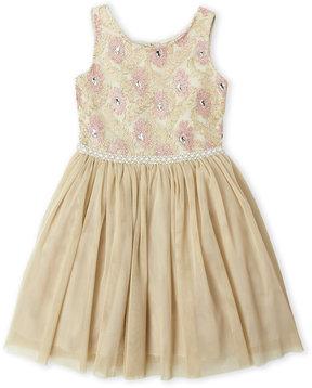 Nanette Lepore Girls 7-16) Rhinestone Tulle Dress
