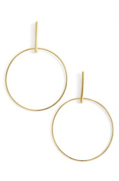 Argentovivo Women's Front Hoop Earrings