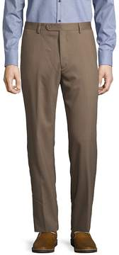 Saks Fifth Avenue BLACK Men's Neat Wool Pants