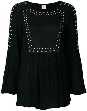 Pinko long-sleeve studded blouse